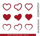 hearts icon vector | Shutterstock .eps vector #1020845554