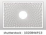 template for cutting. mandala ...   Shutterstock .eps vector #1020846913