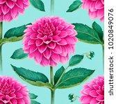 watercolor illustration of... | Shutterstock . vector #1020849076