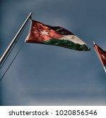 in jordan the national flag in...   Shutterstock . vector #1020856546