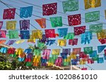 typical mexican street...   Shutterstock . vector #1020861010