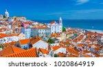 summertime sunshine day... | Shutterstock . vector #1020864919