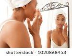 portrait view of beautiful... | Shutterstock . vector #1020868453