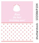 happy birthday card design.... | Shutterstock .eps vector #1020869104