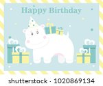 happy birthday card design.... | Shutterstock .eps vector #1020869134