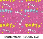 seamless party ornament with... | Shutterstock .eps vector #102087160