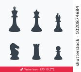 chess pieces  chessman  icons   ... | Shutterstock .eps vector #1020874684