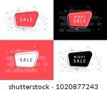 set of trendy flat vector...   Shutterstock .eps vector #1020877243