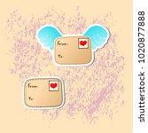 romantic love icons for... | Shutterstock .eps vector #1020877888