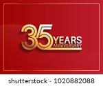 35 years anniversary logotype... | Shutterstock .eps vector #1020882088