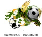 grunge soccer background | Shutterstock .eps vector #102088228