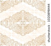 background with damask seamless ... | Shutterstock .eps vector #1020898444