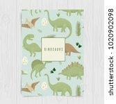 dinosaurs vector design ... | Shutterstock .eps vector #1020902098