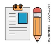paper document with pencil | Shutterstock .eps vector #1020911089