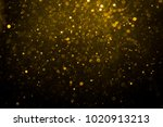 abstract gold bokeh with black... | Shutterstock . vector #1020913213