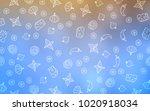 light blue  yellow vector...   Shutterstock .eps vector #1020918034