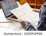 young female architect and...   Shutterstock . vector #1020919900