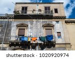 catania  sicily  italy   5th of ... | Shutterstock . vector #1020920974