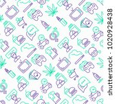 bad habits seamless pattern... | Shutterstock .eps vector #1020928438