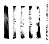 set of grunge brush. ink black... | Shutterstock .eps vector #1020930109