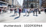 crowd of anonymous people... | Shutterstock . vector #1020930964