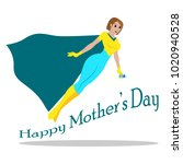 happy mother day | Shutterstock .eps vector #1020940528