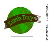 happy earth day | Shutterstock .eps vector #1020940558