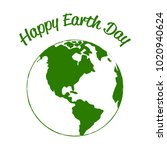 happy earth day | Shutterstock .eps vector #1020940624