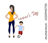 happy mother day | Shutterstock .eps vector #1020940750