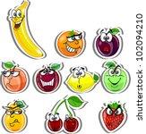 cartoon fruits | Shutterstock .eps vector #102094210