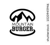 mountain logo burger  | Shutterstock .eps vector #1020945946