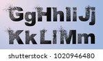 vector alphabet set  letters... | Shutterstock .eps vector #1020946480
