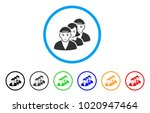 people queue rounded icon.... | Shutterstock .eps vector #1020947464