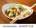 asian ri  e with seafood  ...   Shutterstock . vector #1020957118