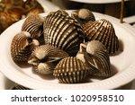 Small photo of Thai street seafood, Cardiidae, ark shell, grill, Babylonia areolata