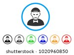 vampire rounded icon. style is... | Shutterstock .eps vector #1020960850