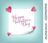 happy valentine s day wishes... | Shutterstock .eps vector #1020960940