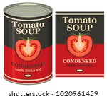 vector illustration of tin can... | Shutterstock .eps vector #1020961459