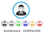 gentleman rounded icon. style... | Shutterstock .eps vector #1020961540