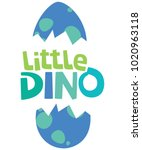little dino text with hatched... | Shutterstock .eps vector #1020963118
