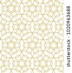 seamless ornamental vector... | Shutterstock .eps vector #1020963688