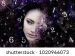 the mysterious woman in the... | Shutterstock . vector #1020966073