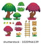 game tile set background... | Shutterstock .eps vector #1020966139