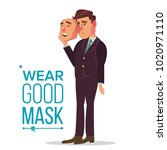 fake person vector. bad  tired... | Shutterstock .eps vector #1020971110