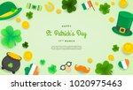 happy st. patrick's day... | Shutterstock .eps vector #1020975463