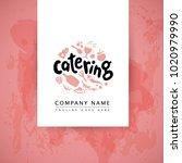 vector catering and restaurant...   Shutterstock .eps vector #1020979990