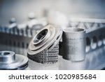 object printed on metal 3d... | Shutterstock . vector #1020985684