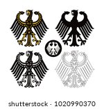 emblem of germany as vector... | Shutterstock .eps vector #1020990370