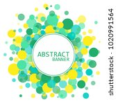 abstract circle background.... | Shutterstock .eps vector #1020991564