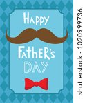 colorful happy father's day... | Shutterstock .eps vector #1020999736